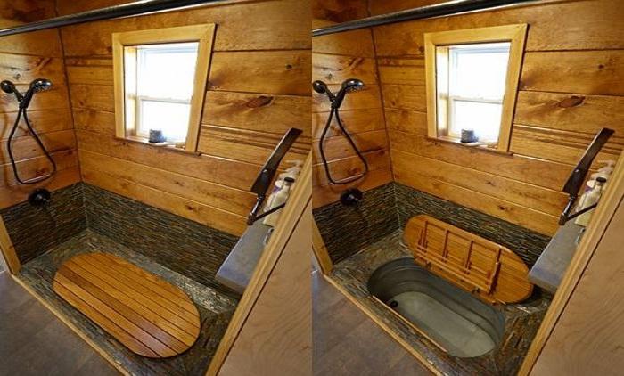Как спрятать ванную в самой ванной комнате.