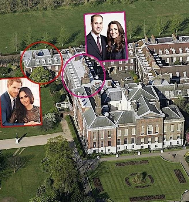 На данный момент молодожены Гарри и Меган проживают в маленьком коттедже Ноттингем, расположенном на территории Кенсингтонского дворца. | Фото: owmade.ru.