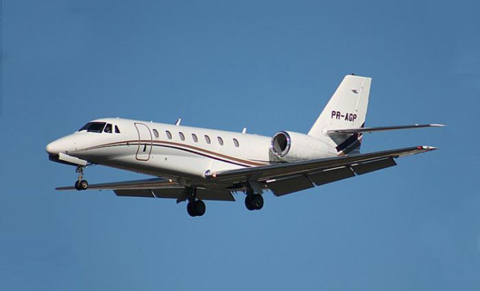 Так выглядит бизнес-самолет Cessna Citation Sovereign. | Фото: ru.hellomagazine.com.