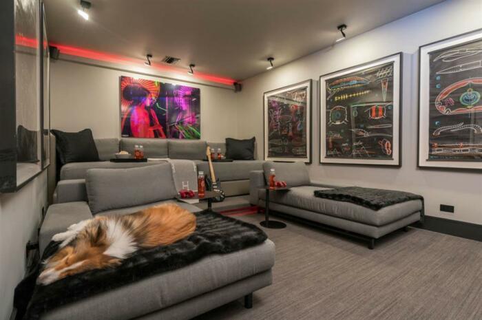 Любимый домашний пес тоже любит проводить время в преображенном гараже (Флорида, США). | Фото: loveproperty.com.