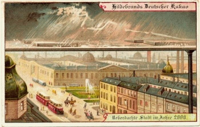 Немецкая компания Theodor Hildebrand & Son именно так видела благоустройство городов в 2000 г. | Фото: interestingengineering.com.