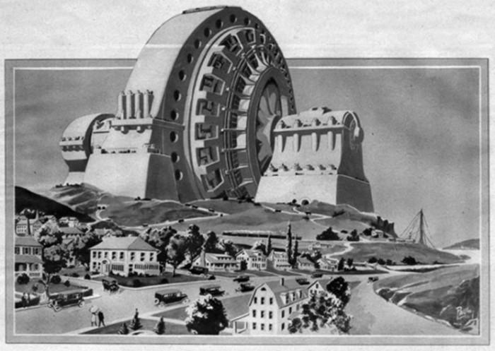 Памятник производству ...электроэнергии (Hugo Gernsback and Frank R. Paul). | Фото: interestingengineering.com.