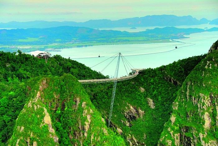 Невероятный вид на «Небесный мост» с высоты птичьего полета (Малайзия). | Фото: ceritadapurku1001.blogspot.com.