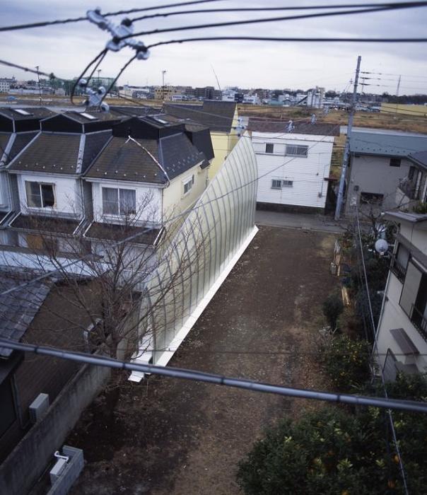 Так выглядит этот необычный дом с высоты птичьего полета.