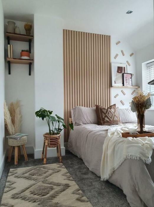 Так теперь выглядит преображенная спальня. | Фото: lemurov.net.