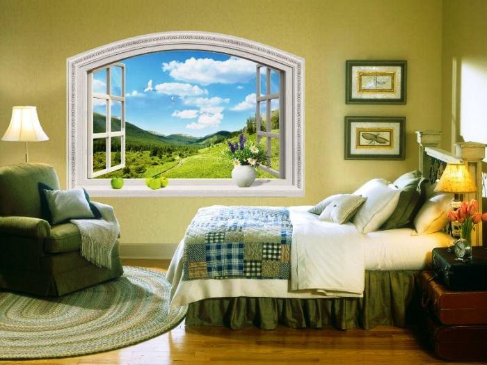 Создавая фальш-окно, можно сделать полноценный подоконник.