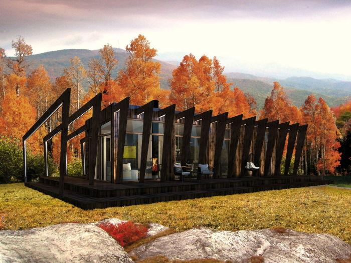 Футуристический модульный домик для загородного отдыха и постоянного проживания (Cliff Home). | Фото: city24.ee.