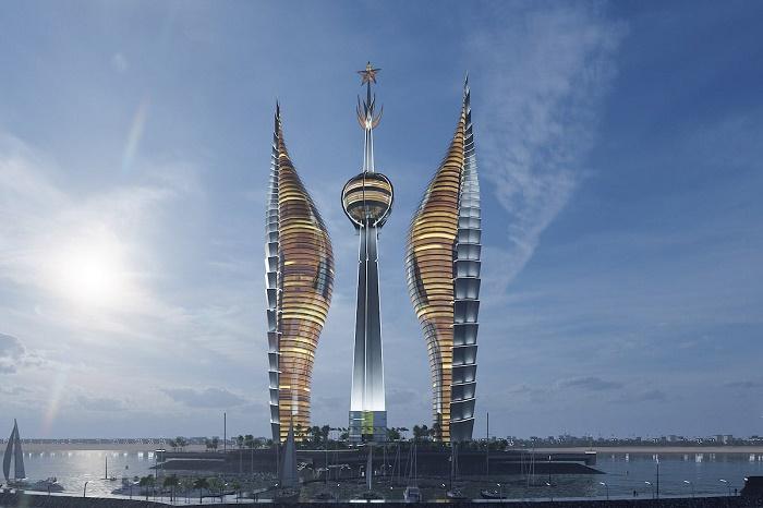 Символические башни от российского архитектора могут стать самым высоким комплексом в Африке (концепт «Джибутийские башни»). | Фото: mymodernmet.com.