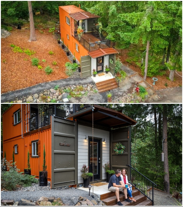 Контейнерный дом в природной зоне стал спасением от кредитов и городской суеты.