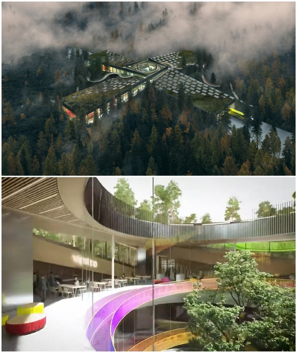 BIG и норвежский производитель Vestre объединили усилия, чтобы построить самую экологичную мебельную фабрику в мире (The Plus, Magnor).