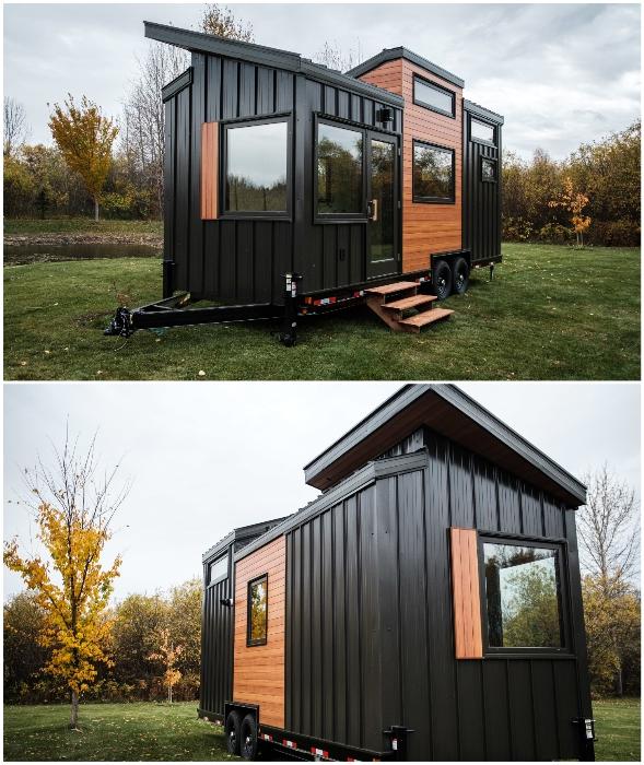 Роскошный крошечный дом станет убежищем даже в зимнюю стужу (проект Fritz Tiny Homes).