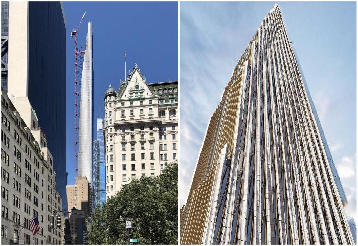 При высоте здания в 435 м оно имеет ширину всего лишь 18 метров (111 West 57th Street, Нью-Йорк).