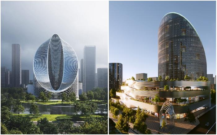 На горизонте Ханчжоу появится инновационный небоскреб в форме бесконечной петли (концепт O-Tower, BIG).