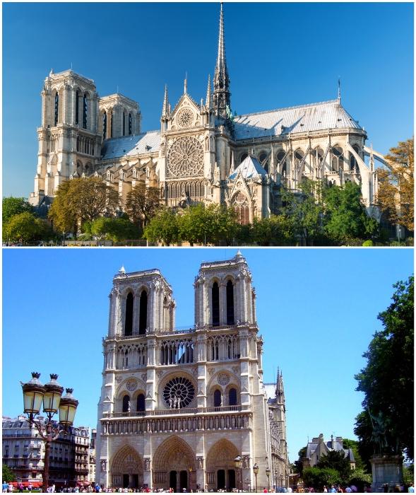 Символ Франции в считанные дни до пожара (Notre-Dame de Paris, Париж).