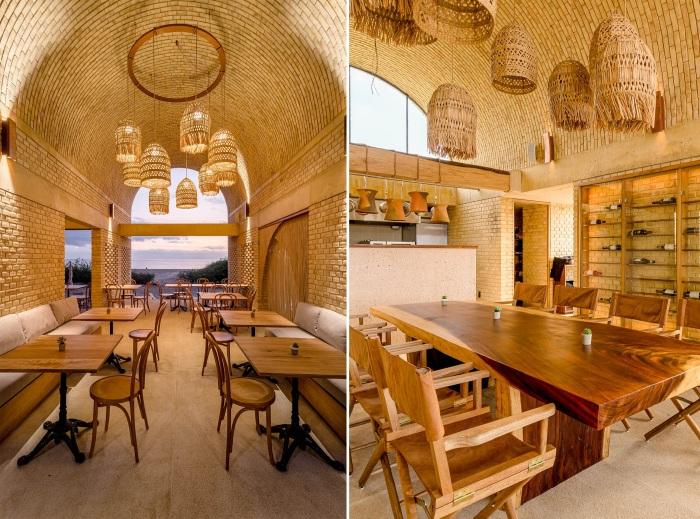 Интерьер ресторана отеля Casona Sforza (La Barra de Colotepec, Мексика).