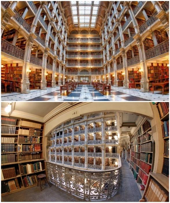 Университетская библиотека может похвастаться не только уникальными фондами, но и красивейшими интерьерами (Johns Hopkins University, США).