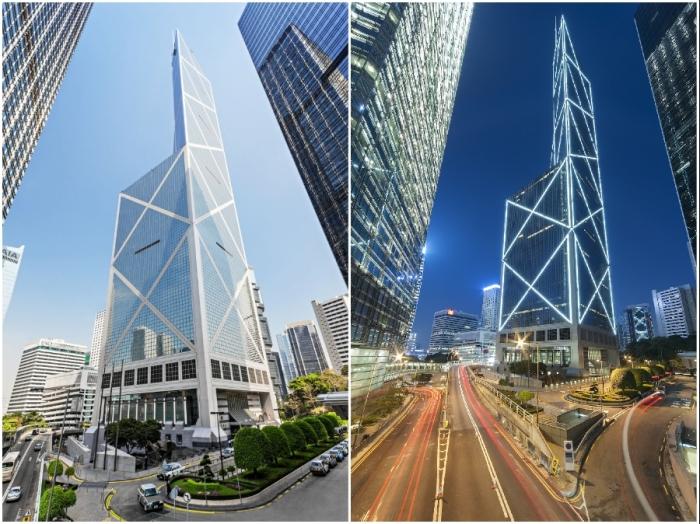 Башня банка в Гонконге стала культовым образцом архитектурного искусства конца XX века, символом мощи и процветания государства.