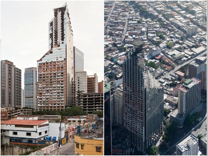 Недостроенный небоскреб в Каракасе вместо бизнес-центра превратился самый масштабный сквот в мире (Centro Financiero Confinanzas, Венесуэла).