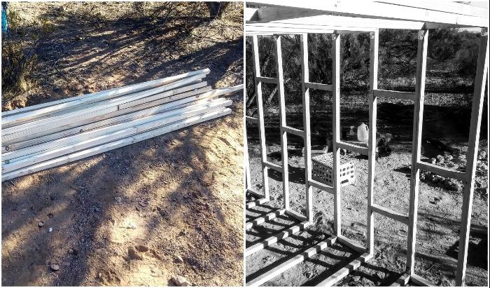 Основой трейлера стал каркас из древесины.