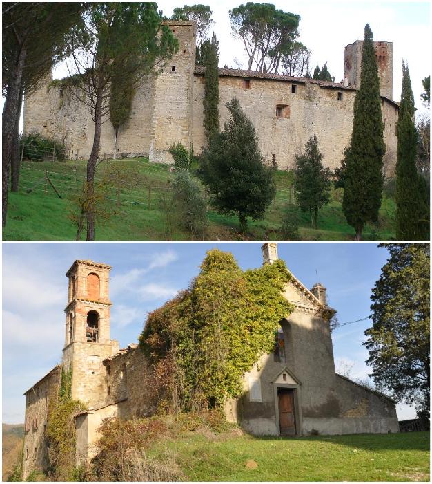 Замок был построен между IX и XI веками (Castello Di Reschio, Италия).