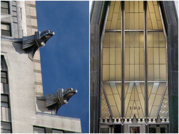 Узнаваемые элементы дизайна автомобиля сделали небоскреб впечатляющей рекламой (Chrysler Building, Нью-Йорк).