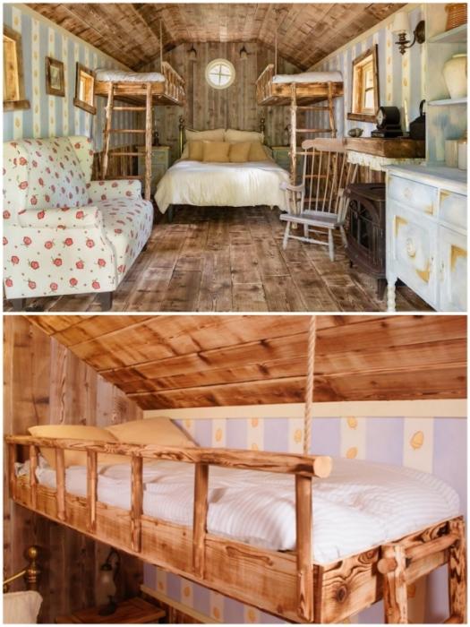 Апартаменты Вини-Пуха рассчитаны на пребывание 4-х человек (Эшдаунский лес, Великобритания).