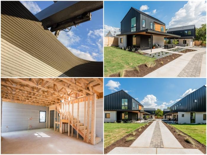 В Техасе появились гибридные дома, в строительстве которых применяется как 3D-печать, так и традиционные технологии.