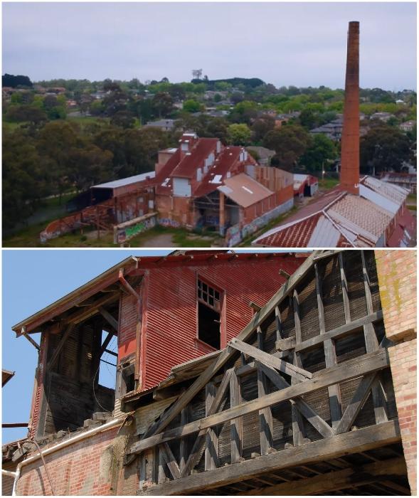 Старинный завод, более 100 лет выпускавший кирпичи, превратился в «заброшку» (Box Hill Brickworks, Мельбурн).