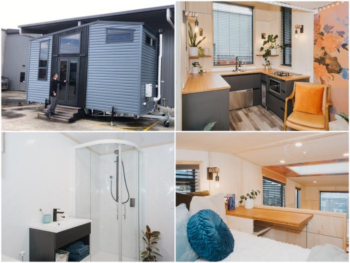 Крошечный дом в японском стиле демонстрирует стильный интерьер и удивительную вместительность (Autumn, Новая Зеландия).