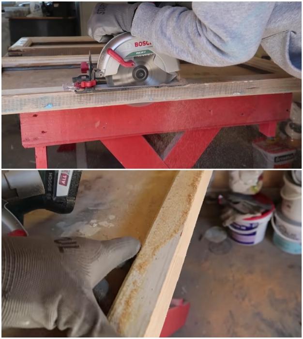 Чтобы края створок были ровными, лучше срезать 0,5–1 см древесины. © Bubenitta.