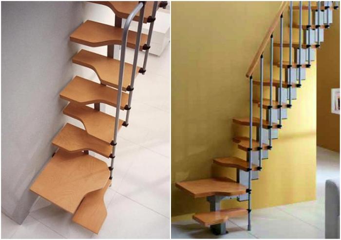 Чаще всего подобную конструкцию лестницы называют «гусиным шагом».