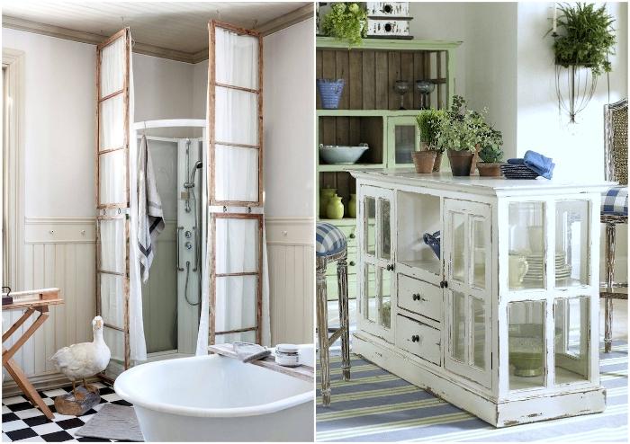 Старые рамы пригодятся и в гостиной, и в ванной комнате, нужно лишь приложить силы и включить фантазию.