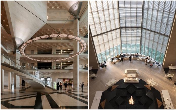 Интерьер музея подстать его экспозиции и внешнему виду (The Museum Of Islamic Art, Доха).