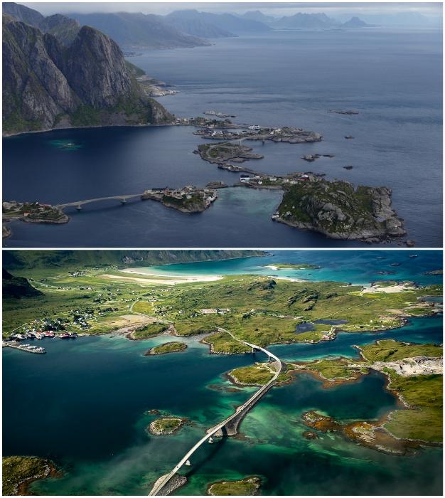 В Норвегии нет населенных пунктов, отрезанных от цивилизации, даже если они расположены на островах (Лофотены).