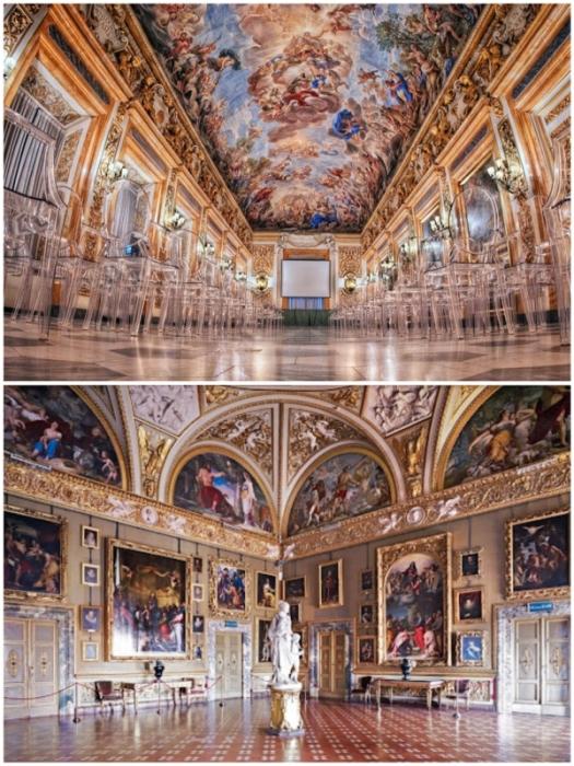 К роскошному убранству дворца Медичи приложили руку величайшие творцы эпохи Возрождения (Palazzo Medici Riccardi).