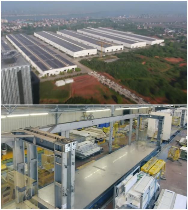 Все модульные конструкции Living Building были собраны на заводе (Чанша, Китай).