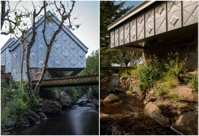 Midden Studio – необычный лесной дом, своими формами и облицовкой напоминающий гранитные горы (Шотландия).
