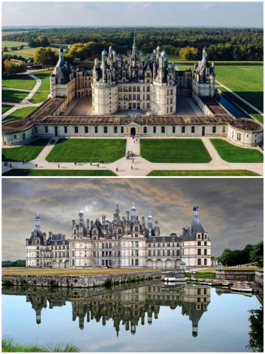 Замок Шамбор – яркий пример архитектуры французского Ренессанса.