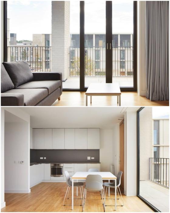 Жилые апартаменты с открытой планировкой и щедрым остеклением уже более чем год радуют своих жильцов (Кембридж, Великобритания).