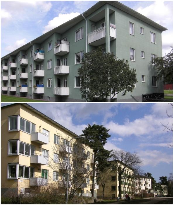 Презентабельный вид бюджетного жилья поддерживается жилищным управлением и коммуной.