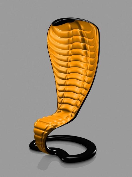 Кресло в виде кобры.
