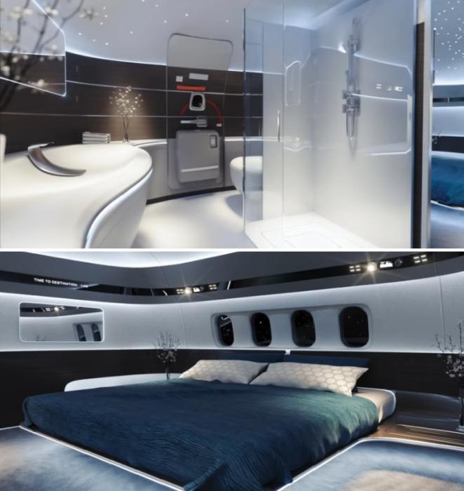 Благоустроенные номера будут напоминать апартаменты земных гранд-отелей (концепт отеля Von Braun Space Station). | Фото: youtube.com/ The Gateway Foundation.
