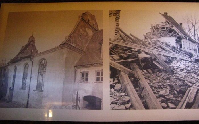 В страшные руины превратился квартал во время войны.