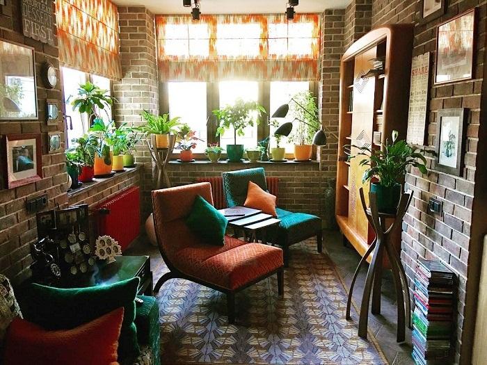 Юля не только обновила интерьер, но и приобрела много комнатных цветов.