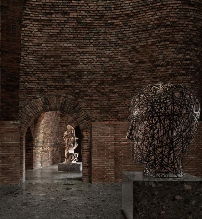 Каждый художественный предмет в ресторанном комплексе – это настоящее произведение искусства (50% Cloud, Китай). | Фото: archdaily.com.