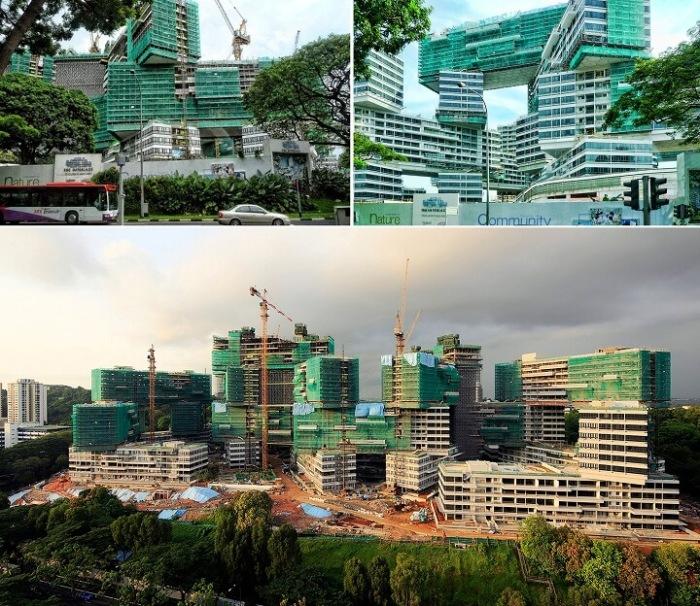 Такое строительство требовало точного инженерного расчета (ЖК «Interlace», Сингапур). | Фото: isicad.ru.