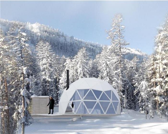 Эко-отель Domes Charlevoix принимает гостей круглый год (Канада). | Фото:   chaletsauquebec.com.