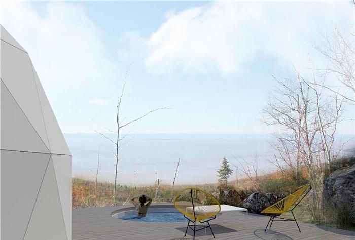 Зона барбекю (Domes Charlevoix, Канада). | Фото: jolijolidesign.com.