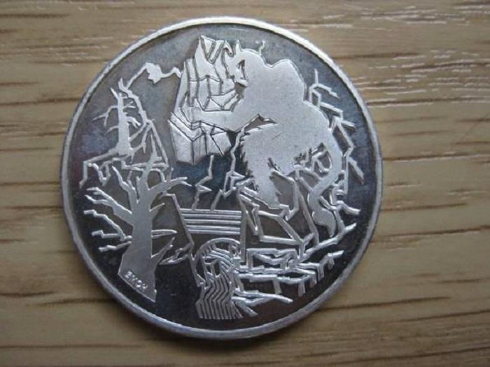 Памятная монета 20 франков 1994. Дьявольский мост (Швейцария)