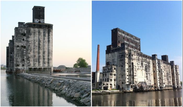 Red Hook Grain Terminal превратился в место паломничества экстремалов и художников, увлекающихся граффити.